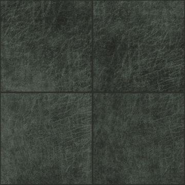 panneaux muraux éco-cuir adhésifs carré gris charbon de bois