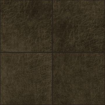 panneaux muraux éco-cuir adhésifs carré brun foncé