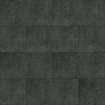 panneaux muraux éco-cuir adhésifs rectangle gris charbon de bois