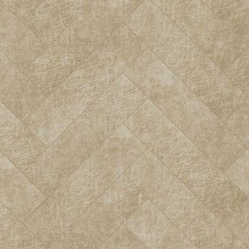 panneaux muraux éco-cuir adhésifs chevron sable beige
