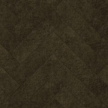 panneaux muraux éco-cuir adhésifs chevron brun foncé