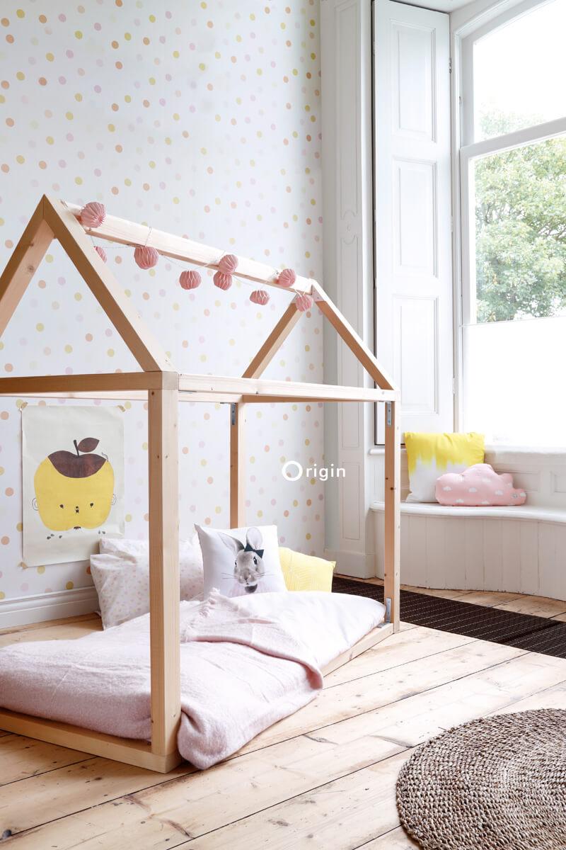 dots wallpaper childrens bedroom
